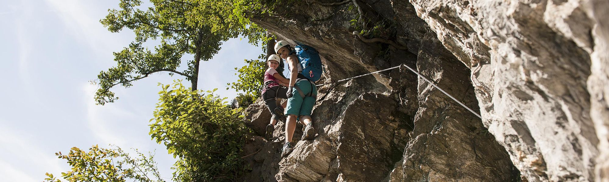 In the Zillertal, there are via ferrata climbs of all difficulty levels