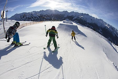Action in the Zillertal Arena