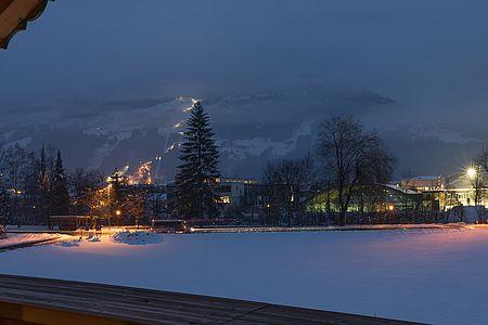 Aussicht im Winter auf den Freizeitpark Zell am Ziller