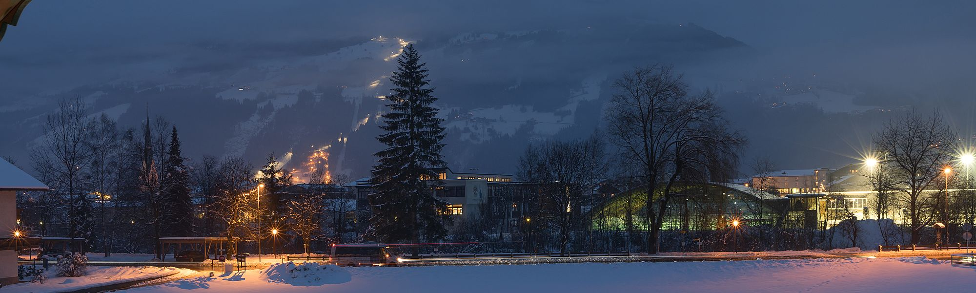Winter view of the Zell am Ziller Leisure Park