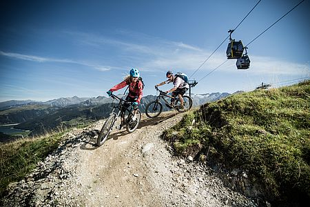 The downhill route in the Zillertal Arena is ideal for all bikers