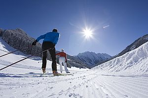 Cross-country skiing in the Zillertal