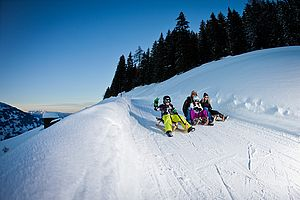 Tobogganing with the family in the Zillertal