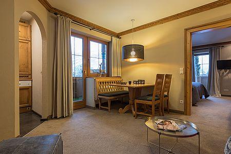 Apartment mit abgetrenntem Wohnraum