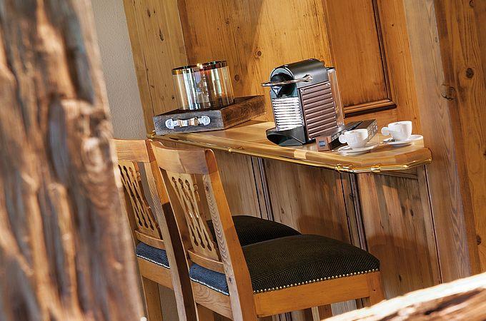 Nespresso Kaffeemaschine in den Zimmern