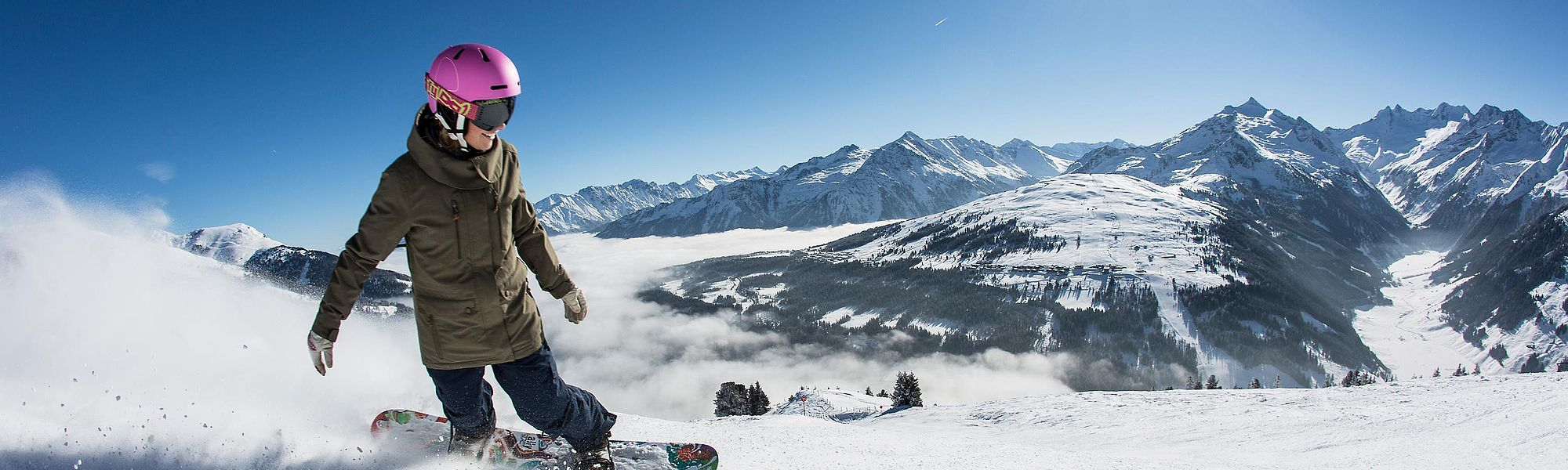 Snowboarding in the Zillertal Arena